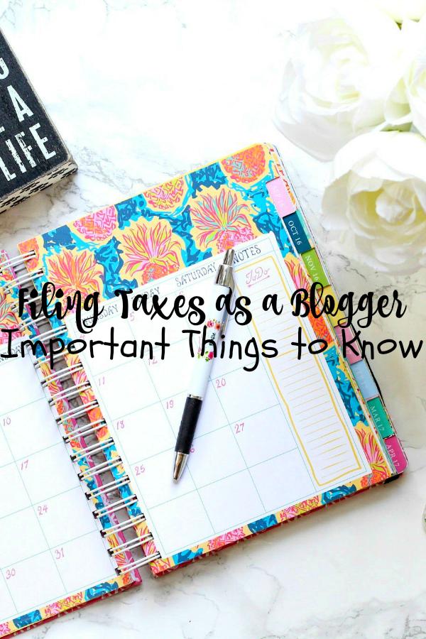 FilingTaxesasaBlogger
