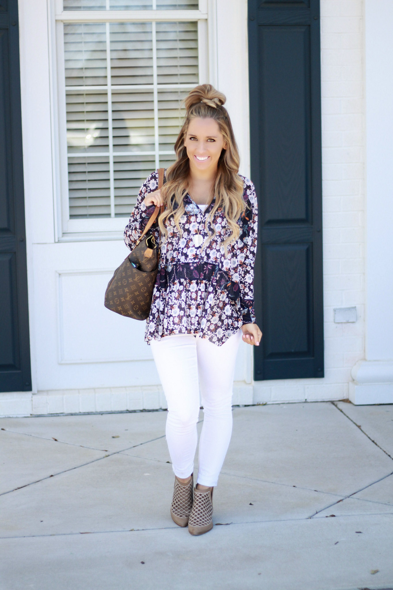 Free People Floral Tunic