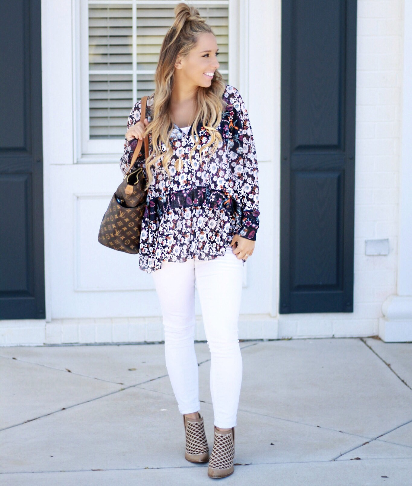 Floral Free People Blouse