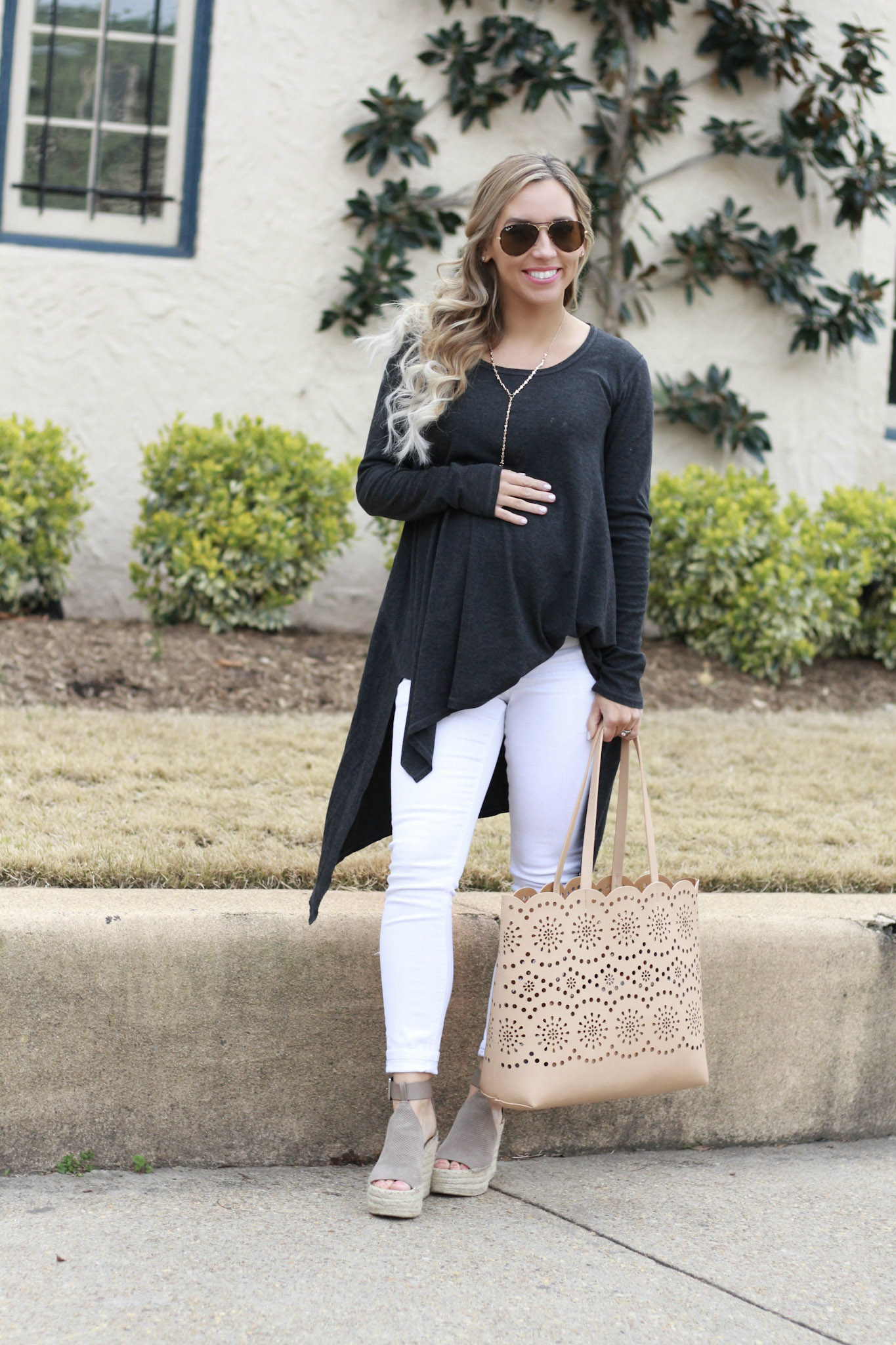Handkerchief Tunic Top & Must Have Spring Wedges