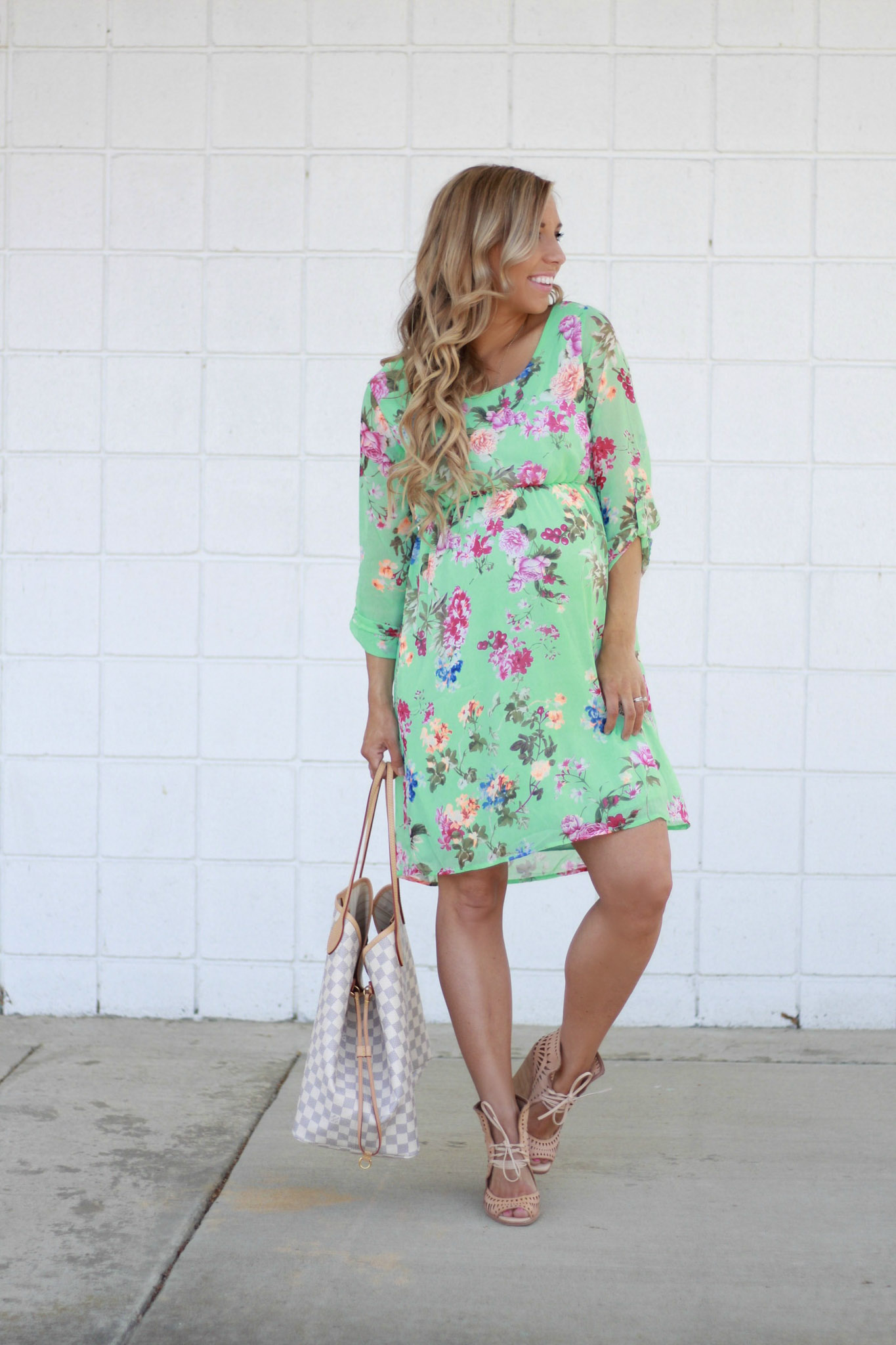the perfect dress for a spring baby shower final bumpdate